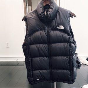 North Face Black Winter Vest